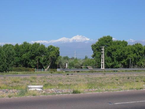 Aconcagua vu de Mendoza