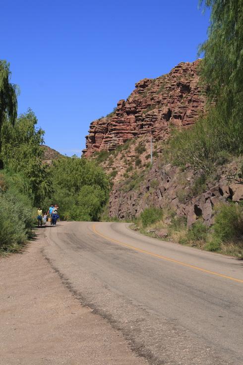 au début du canyon