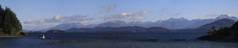 Vue de Puerto Panuelo sur la lac Nahuel Huapi