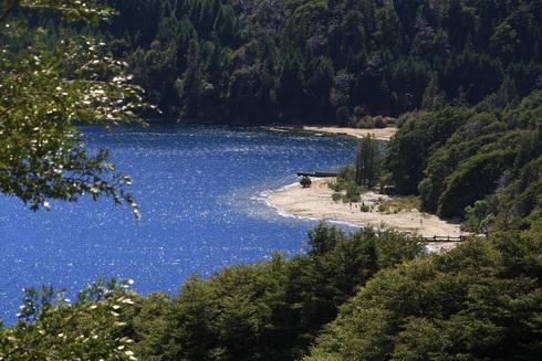 Une plage sur le lago Moreno