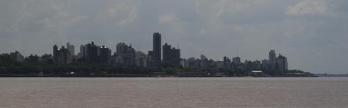Vue générale sur le centre de Rosario de la plage