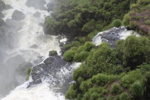 aux chutes d'Iguazu